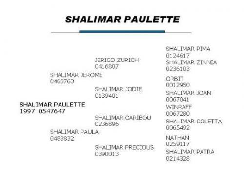 Shalimar Paulette
